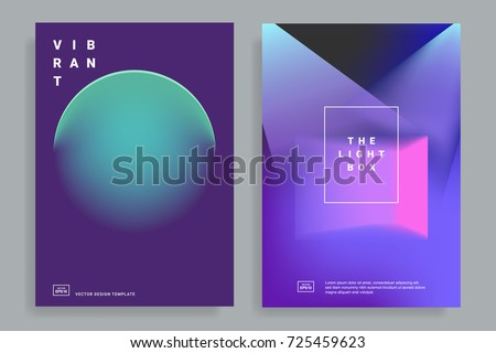 set of covers design templates