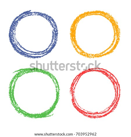 set of crayon colorful hand