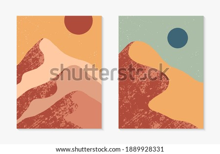 set of creative abstract