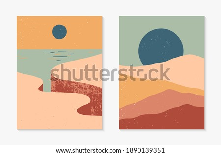 set of creative abstract rocky
