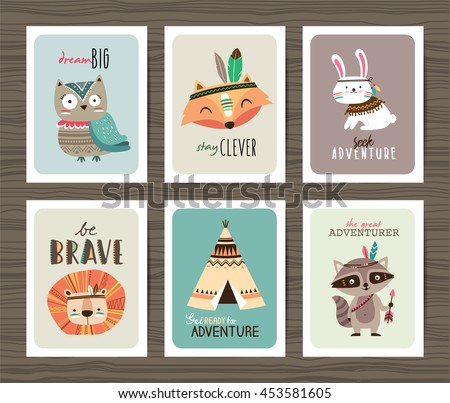 set of creative cards templates