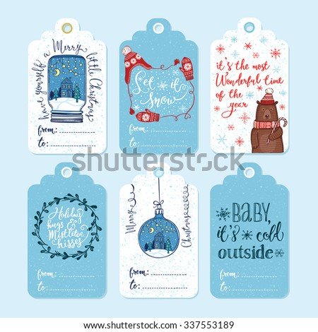 set of 6 creative christmas