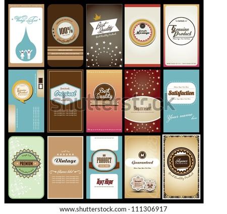 set of creative name card design