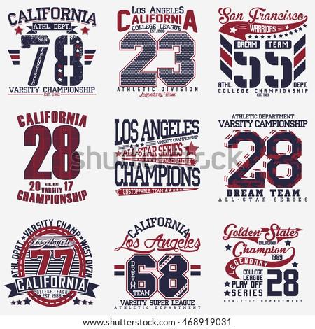 set of creative t shirt graphic ...