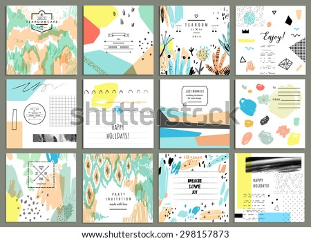 set of 12 creative universal