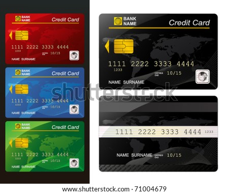 Set of Credit card.