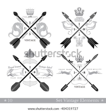 set of cross arrows with