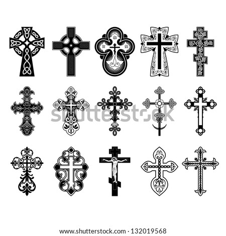 Set of crosses. Vector Eps 10.