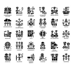 Set of Crowd Funding thin line and pixel perfect icons for any web and app project.