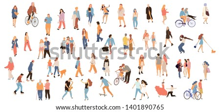 Set of crowd people. Vector isolated flat illustrations