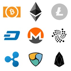 Set Of Crypto Currency Logos