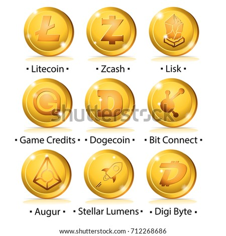 set of cryptocurrency icon