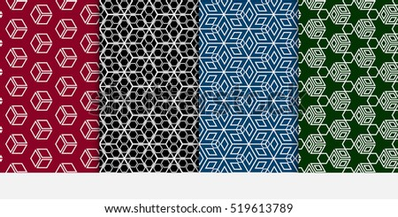 set of cube pattern optical
