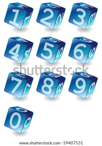 set of cubes with numbers