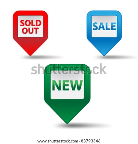 Set of cubical 3d pointer for sale,vector.