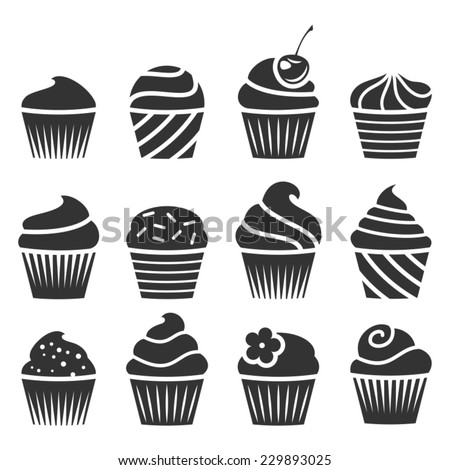 Set of cupcakes.