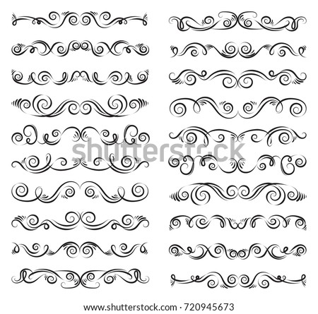 stock-vector-set-of-curls-and-scrolls-calligraphic-dividers-decorative-design-border-elements-for-frames-wall