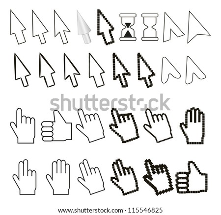 set of cursors