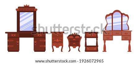 set of cute antique nightstands