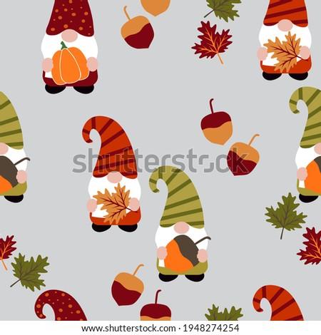 set of cute autumn gnomes