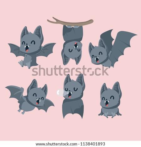 Set of cute bats.