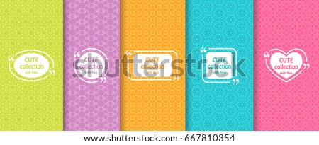 stock-vector-set-of-cute-bright-seamless-patterns-with-frames-abstract-geometric-background-vector
