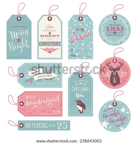 set of 10 cute christmas gift