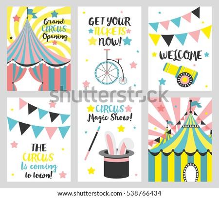 set of 6 cute creative cards