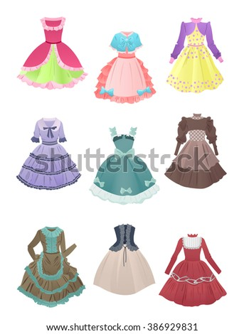 set of cute dresses for cosplay