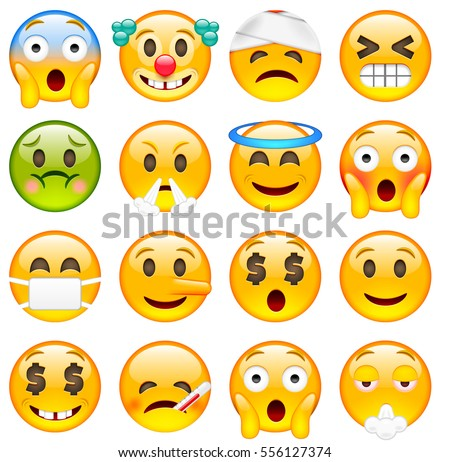 set of cute emoticons sixteen