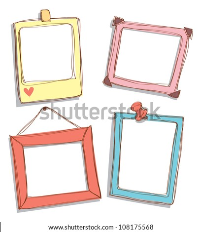 set of cute frame