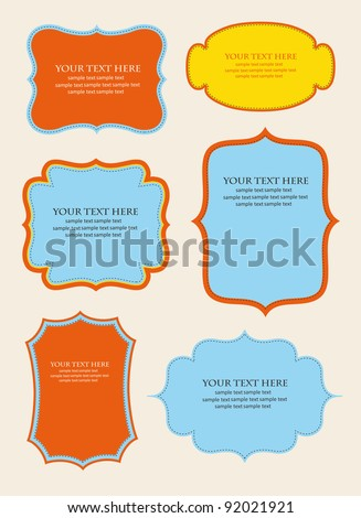 set of cute frames. vector illustration - stock vector
