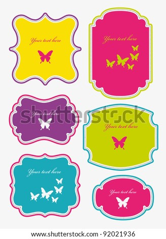 set of cute frames. vector illustration