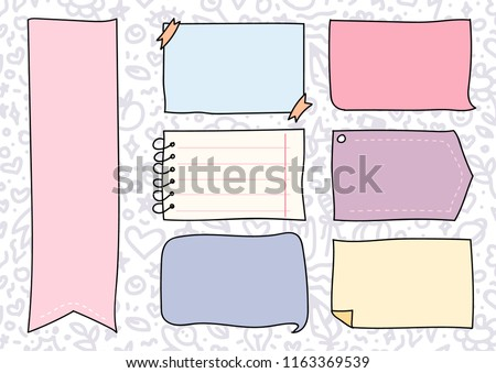 stock-vector-set-of-cute-hand-drawn-doodle-banners-and-ribbons-isolated-on-white-background-for-your-design