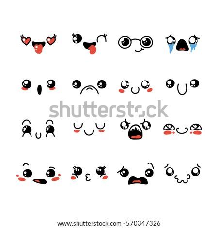 set of cute lovely kawaii