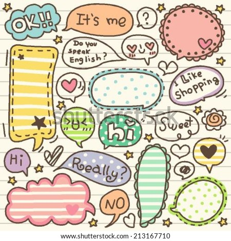 set of cute thought bubbles 1