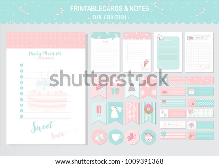 Set of cute vector cards and printable,sweet,candy,cake, tags,cards,templates,Notes, Stickers, Labels,Scrap booking,Sweets,Candy,Cake,Happy Birthday, Congratulations, Invitations,Vector illustrations