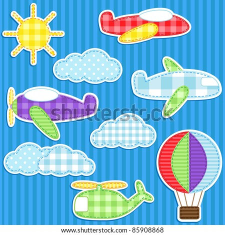 set of cute vector colorful
