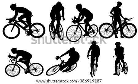 set of cycler silhouette