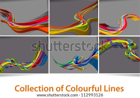 set of 3d abstract wave line poster with space of your text.