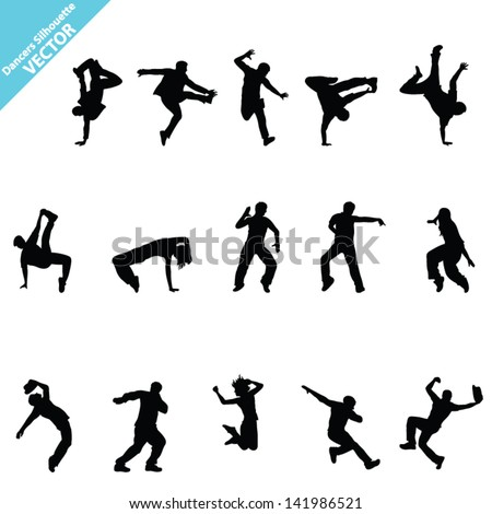 set of  dancer vector
