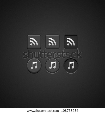 Set of Dark Check Buttons