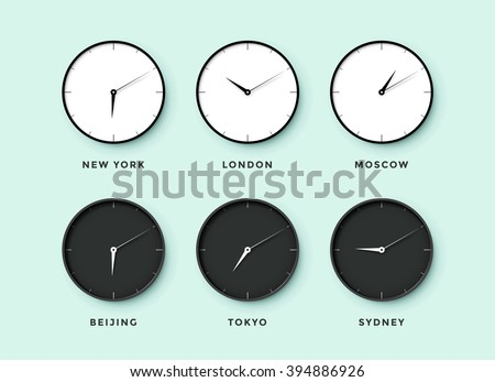 set of day and night clock for