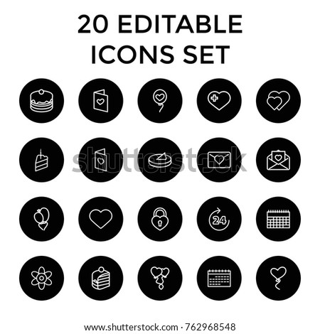 set of 20 day outline icons