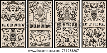 set of dead day banner template