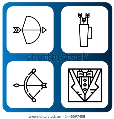 Set of decorate icons such as Bow , decorate