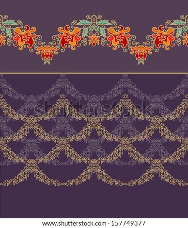 Set of decorative border patterns
