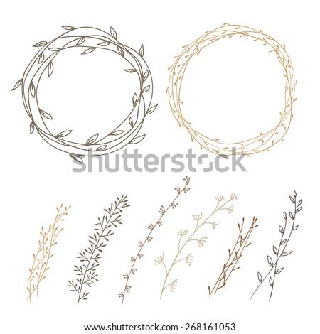 set of decorative doodle