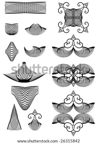 Set of decorative elements. Vector.