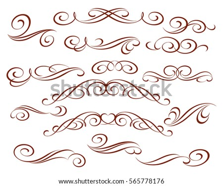 Set Of Decorative ElementsVector IllustrationWell Built For Easy EditingFor Calligraphy